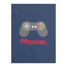 Blue Video Game Controller Fleece Blanket - tap/click to personalize and buy #FleeceBlanket  #name #kids #video #games #gamer Retro Videos, Retro Video Games, Video Games For Kids, Hippie Baby, Game Themes, Edge Stitch, Game Controller, Blue And Silver, Geek Stuff