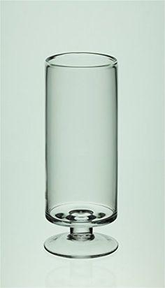 Fait à la main en verre soufflé à la boucheFait à la main en verre soufflé à la bouche VASE à pied/support pour bougie 28cm https://www.amazon.fr/ €36 + €35 de livraison