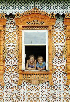 #Russia Fairy tale wooden house in Soymitsy Village, Ivanovo region