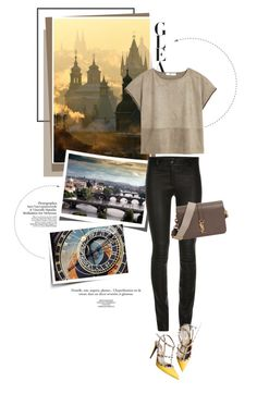 """Praha"" by pippi-loves-music ❤ liked on Polyvore featuring MANGO, Valentino, Yves Saint Laurent, women's clothing, women, female, woman, misses and juniors"