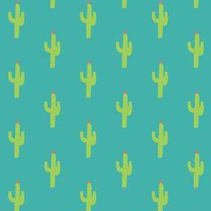 Valentine Homegrown Love Cactus Pattern Art Print