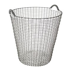 Wire basket Classic 80, galvanized from Finnish Design Shop. I've been looking for something where to put deco pillows and bedspread during the night.. this could be it?