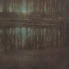 The Pond — Moonlight Edward Steichen - 1904 -repinned by Orange County studio photographer http://LinneaLenkus.com  #photography