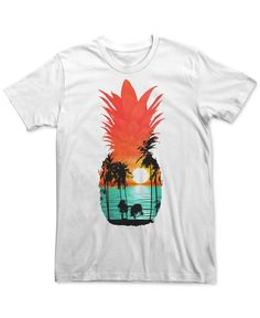 4be8111b0dc Fifth Sun Men s Guava Dreams Pineapple with Palms   Sunset T-Shirt Men - T- Shirts - Macy s