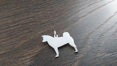 Akita dog full body pendant sterling silver handmade by saw piercing Japanese Dog Breeds, Japanese Dogs, Akita Dog, Handmade Sterling Silver, Piercing, Full Body, Charmed, Pendant, Unique