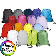 The Eynsford Drawstring Bag comes in a massive collection of colours which are ideal to match up to your company branding. Prices from £1.09!