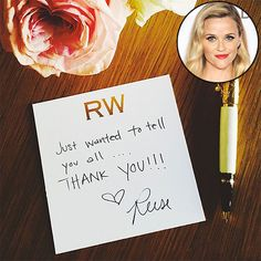 REESE WITHERSPOON'S STATIONERY
