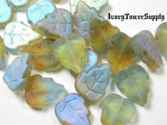 Czech Glass Tri color Leaves PA. Starting at $5 on Tophatter.com!