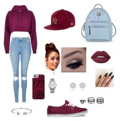 """""""New Era"""" by diamondluv on Polyvore featuring River Island, Topshop, MCM, Vans, Casetify, Bling Jewelry, Lulu*s, Calvin Klein and Lime Crime"""