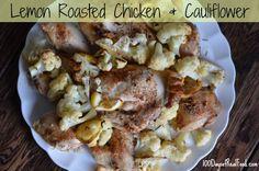 Recipe: Lemon Roasted Chicken and Cauliflower