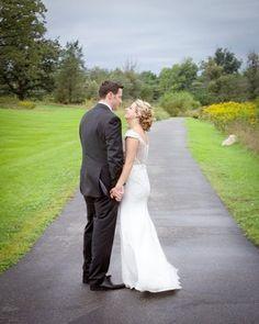 Gorgeous vintage style wedding dress with custom scallop beadwork by designer Rachel Alvia of Avail & Company.
