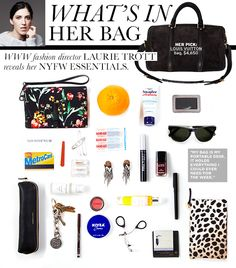 @Who What Wear's Fashion Direction, Laurie Trott - What's Inside Her Bag, NYFW Essentials.