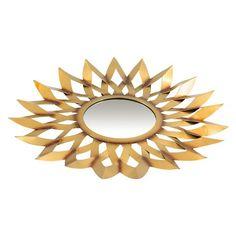 "Decorative Wall Barcelona Mirror - Gold (25"")"