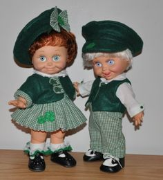 Boy and Girl Baby Face outfits for St Patty's Day.