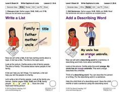 Write Captions and Lists: Lesson 2, Book 24 (Newitt Writing Series)
