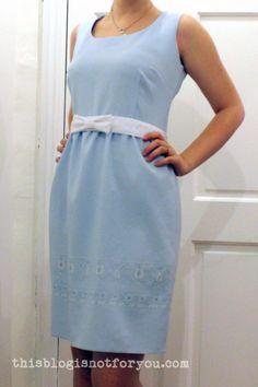 remodelar vestido tubo por thisblogisnotforyou.com