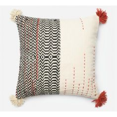 Black and Ivory Down Pillow