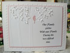Our Family Grieves by Susie B - Cards and Paper Crafts at Splitcoaststampers