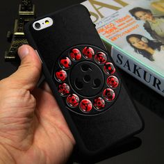 Sharingan Naruto Black Hard Phone Case for iPhone - Phone Cases - Naruto Shippuden Sasuke, Naruto Kakashi, Naruto Art, Anime Naruto, Boruto, Naruto Merchandise, Arte Ninja, Iphone 5s, Iphone Cases