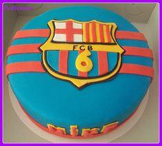 voetbal taart fc Barcelona / soccer cake https://www.facebook.com/bolicioso