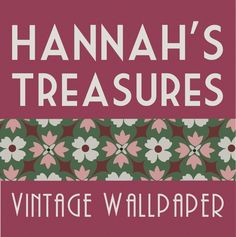Vintage wallpaper printed in the 1940s and 1950s; authentic, old stock vintage wallpaper from the Hannah's Treasures Vintage Wallpaper collection.