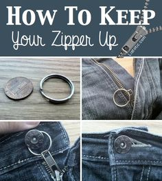31 Clothing Tips Every Girl Should Know: This zipper thing happens with my favorite pants :/