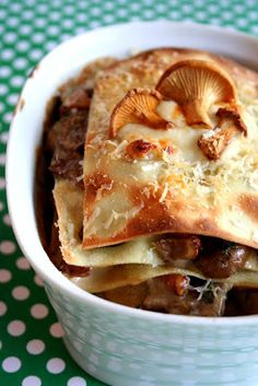 Once upon a Cakestand: deluxe mushroom lasagne