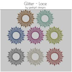 Glitter Lace Mandala's by geekgirl designs