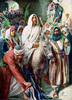 Triumphant entry into Jerusalem... Palm Sunday as is traditionally celebrated in the Christian Church. Hosanna! Blessed is He who comes in the name of the Lord!