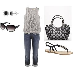 """""""Casual summer day"""" by musiclvr84 on Polyvore"""