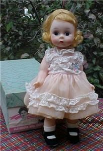 """Wish List: Look at that face! Madame Alexander 8"""" Gorgeous Wendy-kins in Her Organdy Dress #621 1965"""