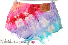 vintage tie-dyed destroyed cut-off shorts from etsy