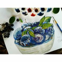 Food watercolor painting  Check out my works on Instagram @mpupuutt and tell me what you think :)