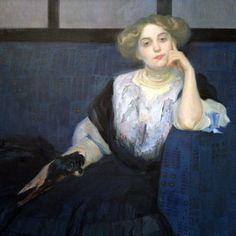 Otto Friedrich (Austrian, 1862-1937) Elsa Galafrès, 1908 Oil on canvas Österreichische Galerie Belvedere, Wien