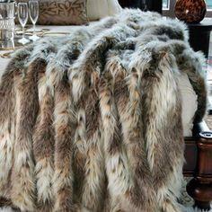 Faux Russian Lynx Throw