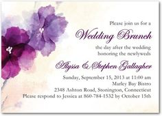 After Wedding Brunch Invitations Soft Bougainvillea - Front : Majestic