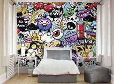 Create a stunning feature wall in any room of your home with the ohpopsi Graffiti Monster wall mural. Contemporary, colourful, playful and bold, the graffiti monster wall mural will be sure to add a design edge to any interior. #interiordesign #interiordesigner #interior #interiordecor #interiorinspiration #interiorproject #decoration #decor #deco #decorating #homedecor #homedesign #wallpapers #wallart #wallmural