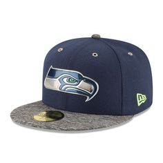New Era Seattle Seahawks College Navy/Heathered Gray 2016 NFL Draft On Stage 59FIFTY Fitted Hat
