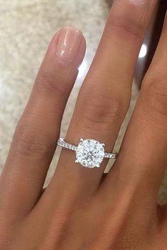 24 Top Round Engagement Rings ❤️ See more: http://www.weddingforward.com/round-engagement-rings/?utm_content=buffer513bb&utm_medium=social&utm_source=pinterest.com&utm_campaign=buffer #wedding