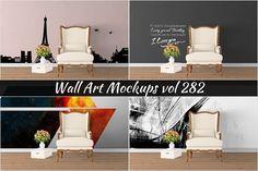 Wall Mockup - Sticker Mockup Vol 282 by Creative Interiors on @creativemarket
