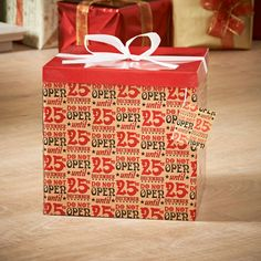 Giant Gift Box - 25th December. This giant gift box will make any Christmas gift that little bit extra special. 4 festive designs available - B&M Stores.