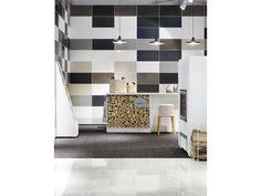 #tulikivi #messut #habitare #habitare2014 #fair #tradefair #tiles #tilewall #logs #logwall #stand Log Wall, Logs, Wall Tiles, Shelving, Home Decor, Wood Wall, Room Tiles, Shelves, Decoration Home