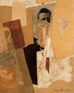 Kurt Schwitters, Untitled (with an early portrait of Kurt Schwitters), Collage, x cm Sprengel Museum Hannover Kurt Schwitters, Collage Kunst, Collage Artists, Dada Collage, Art Collages, Photomontage, Bts Design Graphique, Pop Art, Collages
