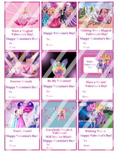 Barbie Printable Digital Personalized Valentines Day Cards #5