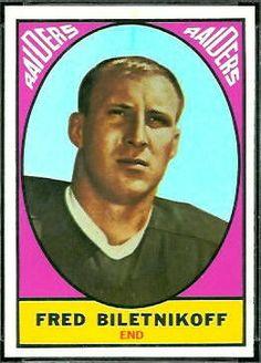 topps football cards biletnikoff   Fred Biletnikoff - 1967 Topps #106 - Vintage Football Card Gallery