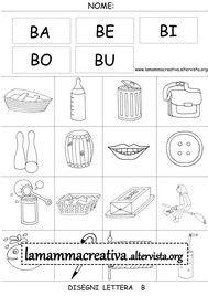 Disegni parole con lettera b
