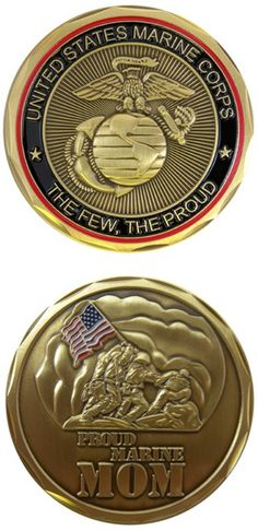 I want this Marine Mom challenge coin, but I want to receive it from one of my sons who are Marines. It would mean that much more. Wonder if they even know it exists?