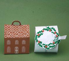 Free Printable Boxes for Christmas Miniatures or Small Presents: Free Printable Boxes for Christmas Miniatures or Small Presents