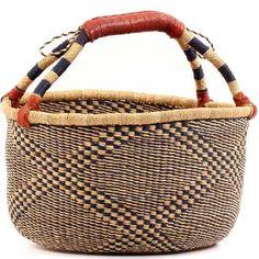 African Market Basket - Ghana Bolga - 15 Inches Across - #54609