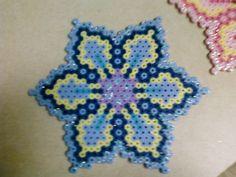 Perler Bead Blue Flower by queenbee1977